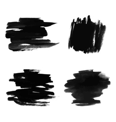 Black watercolor spots Ink vector image vector image
