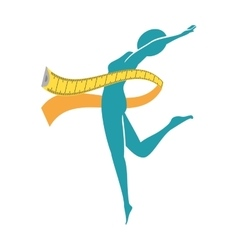body female with tape measure vector image