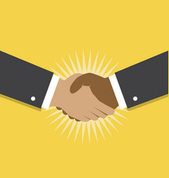 handshake and cooperation vector image