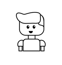 line man character to video game technology play vector image vector image