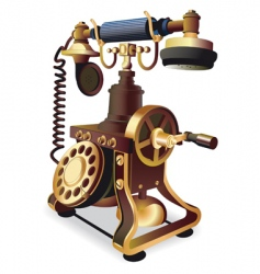 old style telephone vector image vector image