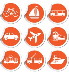set of trasport icons vector image vector image