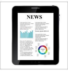 Abstract design Tablet with news concept vector image vector image