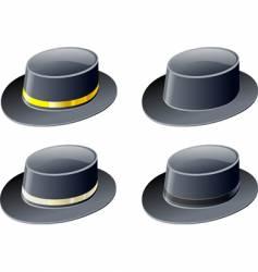 black hats vector image
