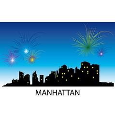 Manhattan panorama vector image