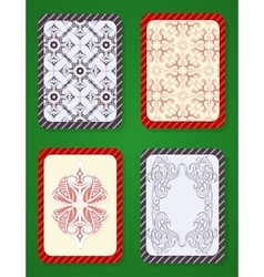 Playing card deck design vector image vector image