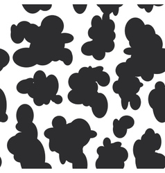 Abstract seamless pattern - black spots on white vector image