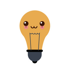 Kawaii school bulb idea creativity innovation icon vector