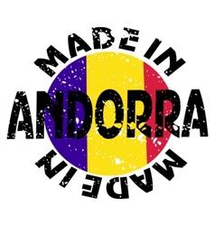 label Made in Andorra vector image vector image