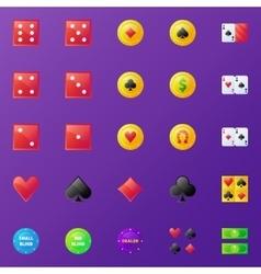 Poker icons set vector