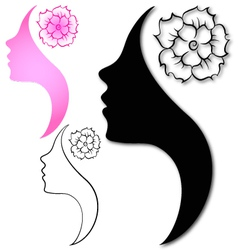 profile girl vector image vector image