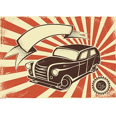 Retro car poster vector image
