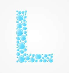 Alphabet Letter L vector image vector image