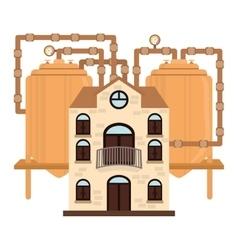 Beer factory icon image design vector
