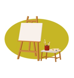 canvas stand vector image vector image