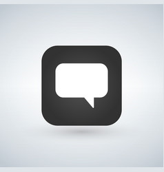 chat icon speech bubble symbol over app button vector image