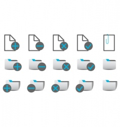 database management icons vector image vector image