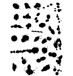 ink stains vector image