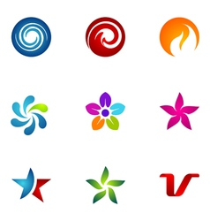logo design elements set 74 vector image vector image