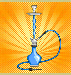 object hookah colorful drawing pop art background vector image vector image