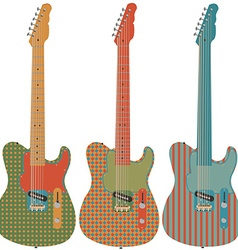 Retro guitar set vector image