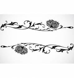 swirl floral ornaments vector image