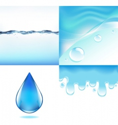 water backgrounds vector image vector image