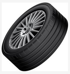 Automobiles alloy wheel vector