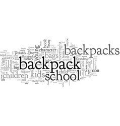 Backpacks for young children vector