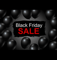 black friday sale design of balloon vector image vector image