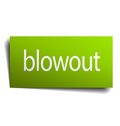 Blowout green paper sign on white background vector