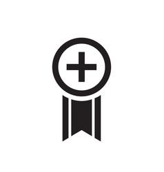 bookmark - black icon on white background vector image