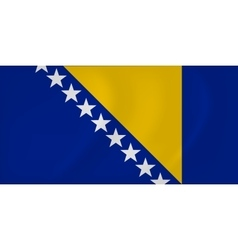 Bosnia and Herzegovina waving flag vector image