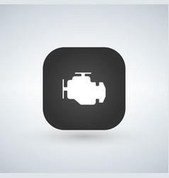 Car engine icon isolated on app button trendy vector