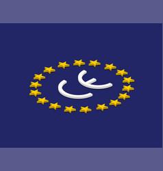 ce mark ce symbol on flag europe isometric design vector image
