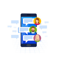 Chating and messaging on smartphone concept sms vector