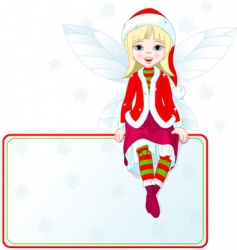 Christmas fairy card vector image