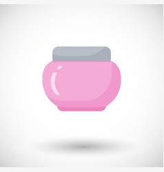 cosmetics bottle product flat icon vector image
