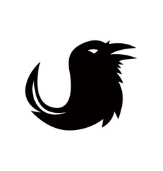 crow quill pen tail icon vector image