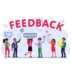 Customer feedback assessment flat vector