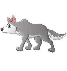 Cute cartoon wolf vector