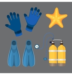 Diving suit scuba underwater equipment vector image
