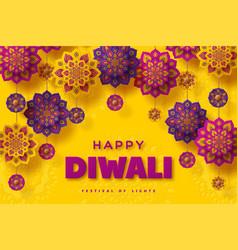 Diwali festival typographic design vector
