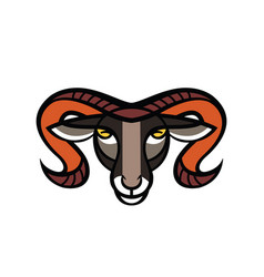 drawing head of ram vector image