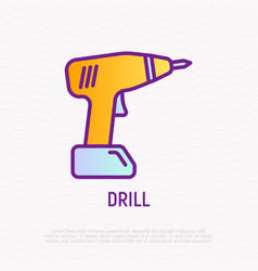 drill thin line icon modern vector image