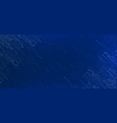 Electronic elements on dark blue background vector