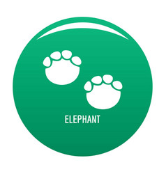 elephant step icon green vector image