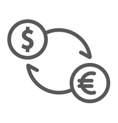 Exchange line icon finance and banking currency vector