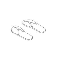 Flip flops icon isometric 3d style vector image