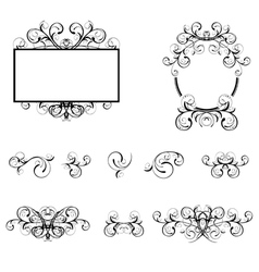 Floral Decorative Elements and Borders vector image